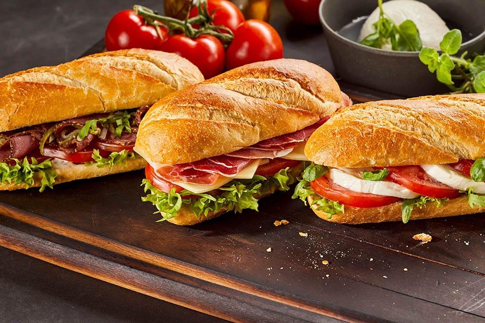 Sandwich Lunch Menus